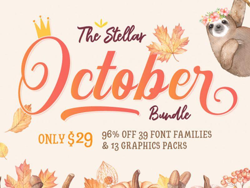 Stellar-October-Fonts-Design-Bundle