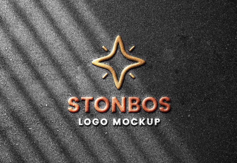 Stone-Emboss-Logo-Mockup