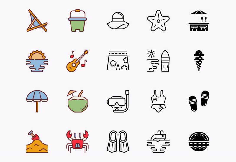 Vector-Beach-Icons-Pack