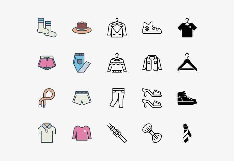 Vector Clothing Icons Pack