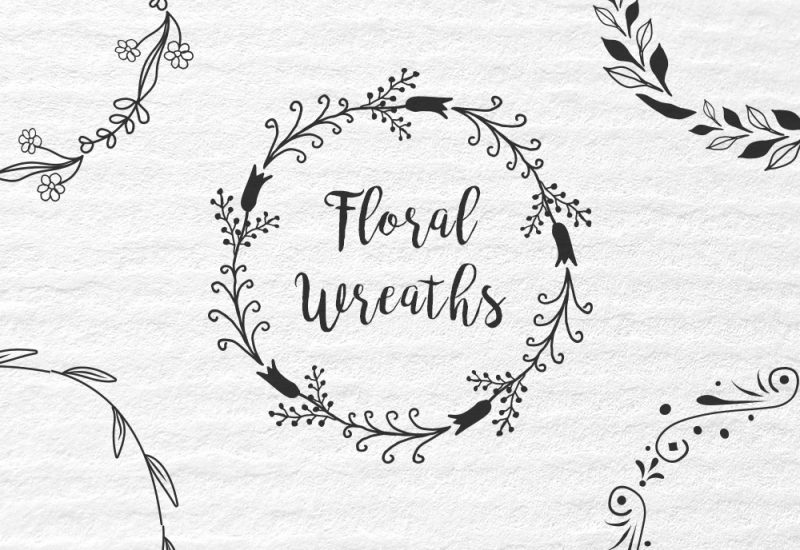 16 Floral Wreaths