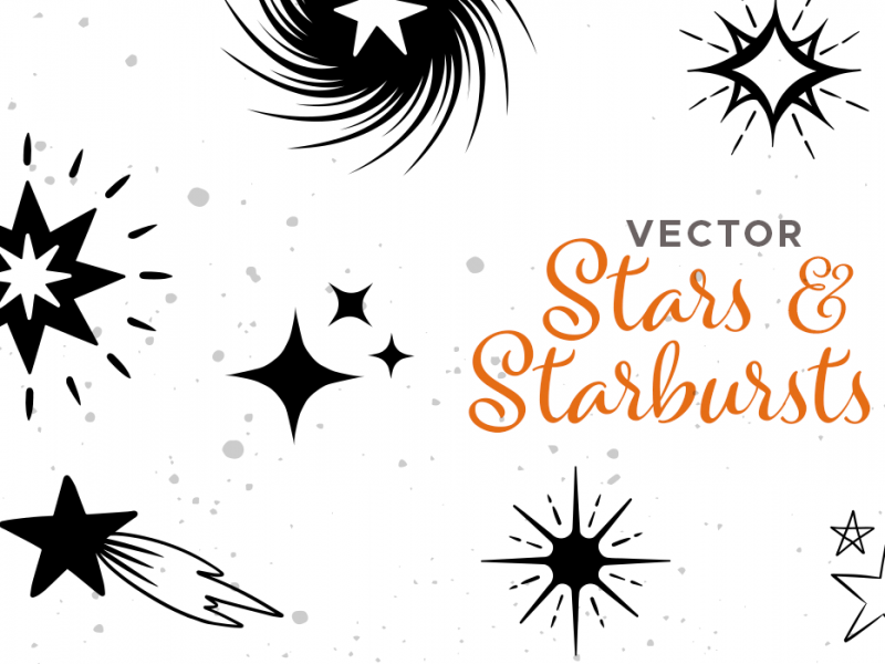 Handdrawn Vector Star & Starbursts Pack