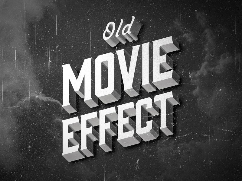 Vintage Old Movie Text Effect