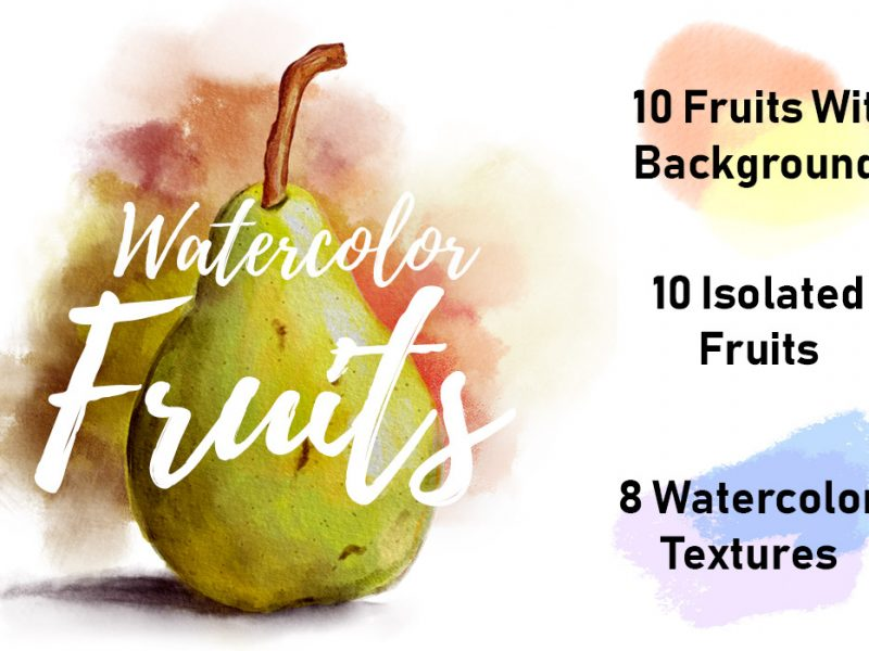 Watercolor Fruits & Textures