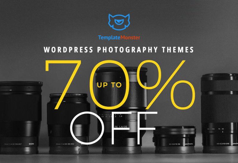 Wordpress Photography Themes - 70% Off