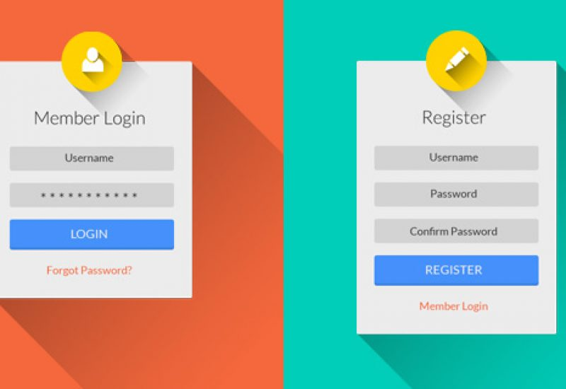 flat-login-register-psd-ui