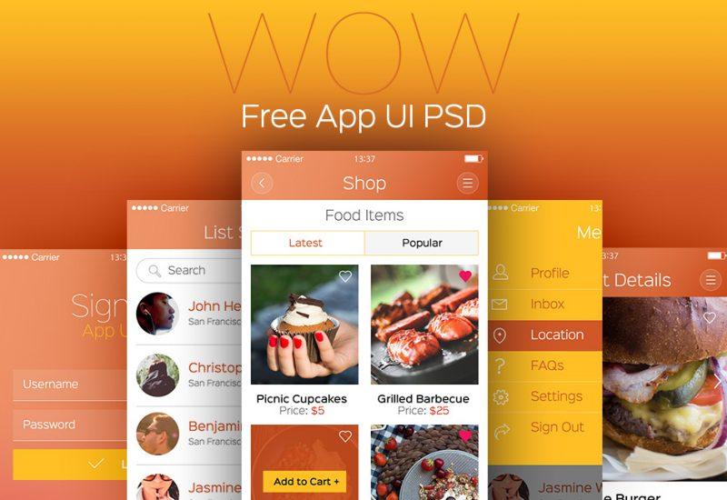 free-app-ui-psd