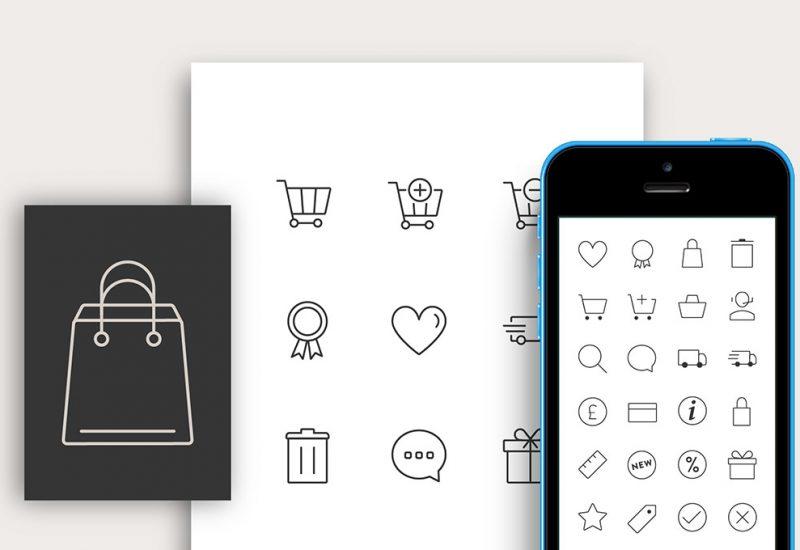 Free Responsive Ecommerce Icons