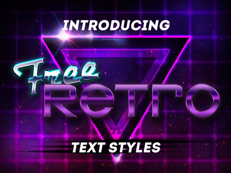 Free Retro PSD Text Styles