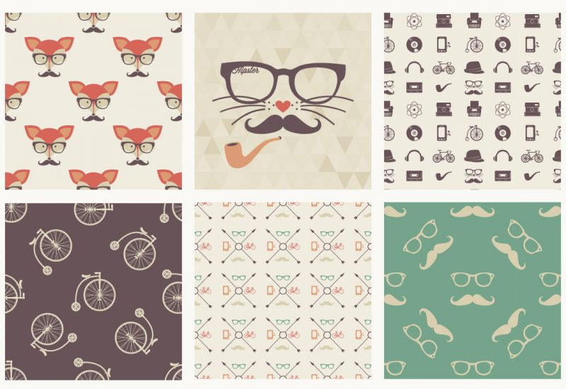 hipster-icons-seamless-pattern