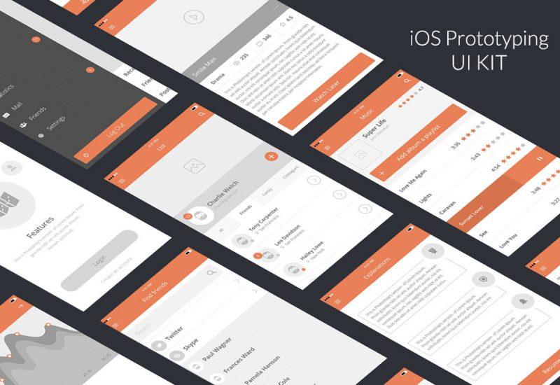 iOS Prototyping UI Kit PSD