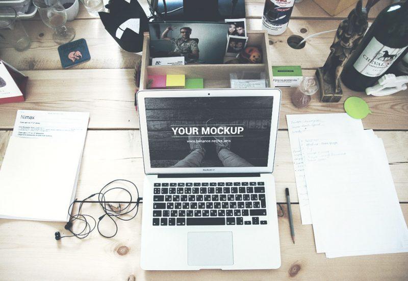 PSD Mockup for Macbook Air