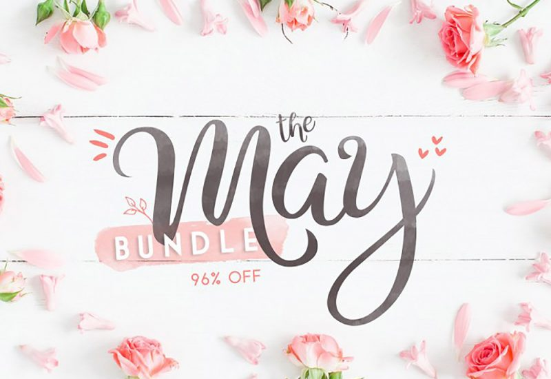 Buy May Fonts & Graphics Bundle