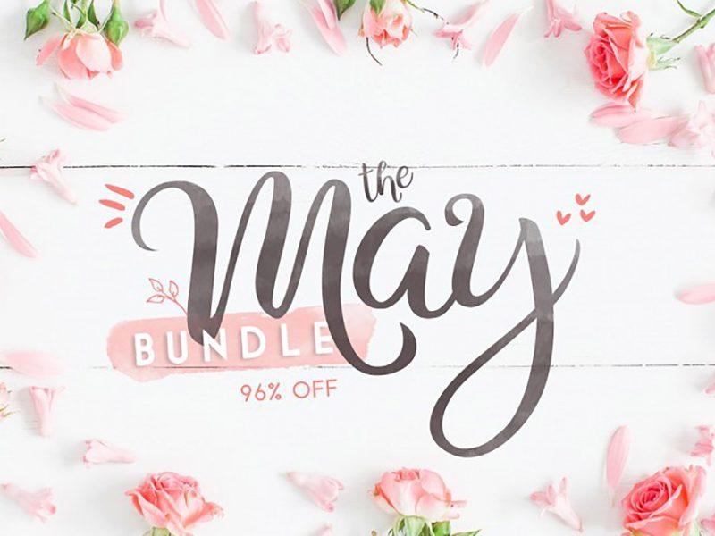 Buy May Fonts & Graphics Bundle