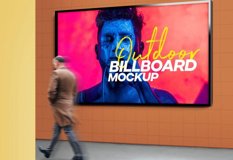 Outdoor Billboard Advertising Mockup PSD