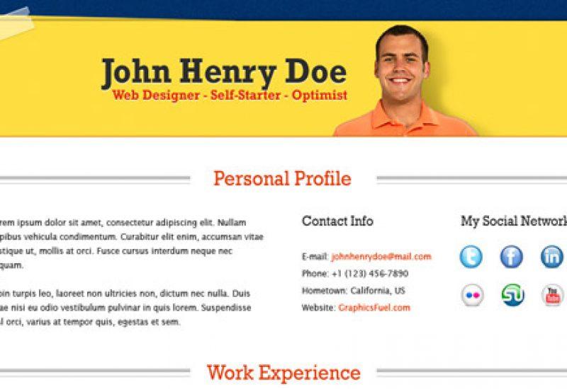 resume-template-psd