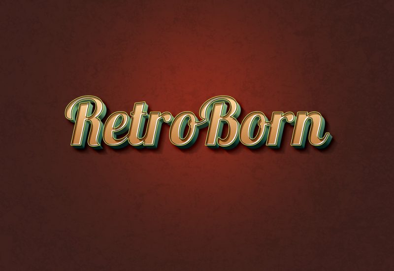 retro-vitnage-text-effect