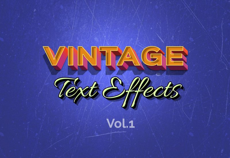retro-vitnage-text-effects