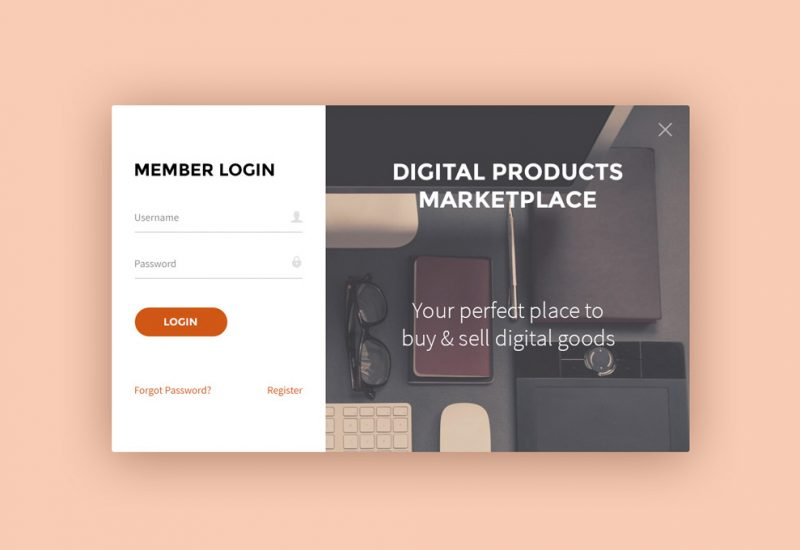 Sign Up & Login Forms UI PSD