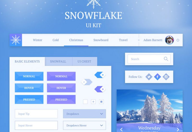 snowflake-free-ui-kit-featured