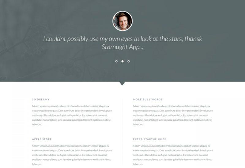 starnight-free-psd-web-template
