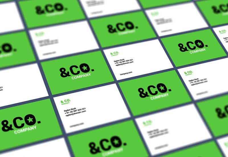 Tiled Business Card Mockup PSD