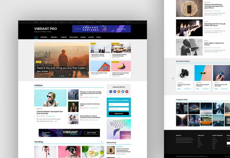 Vibrant Pro Magazine WP Theme