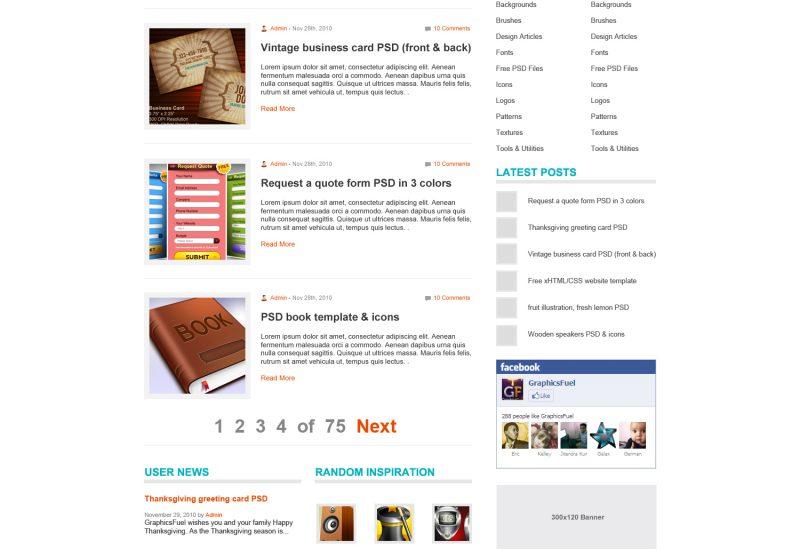 wp-blog-theme-psd